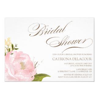 Romantic Peony Flower Bridal Shower Invitation