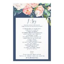 Romantic Peony Flowers | Blue I Spy Game Flyer