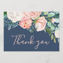 Romantic Peony Flowers | Blue Thank You