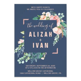Romantic Peony Flowers   Blue The Wedding Of Invitation