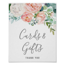 Romantic Peony Flowers Cards & Gifts Sign