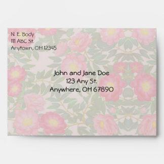 Romantic Peony Flowers Envelope