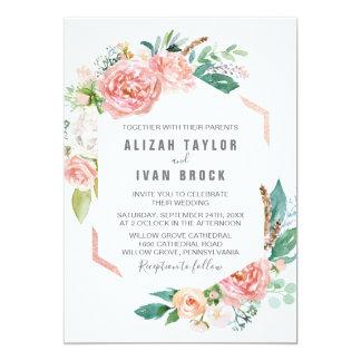Romantic Peony Flowers Wedding Invitation