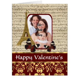 Romantic photo template Valentine's Card