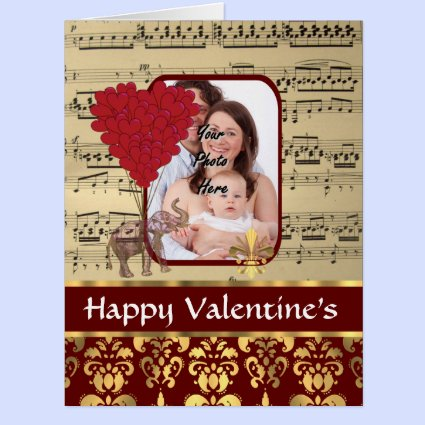 Romantic photo template Valentine's Greeting Card