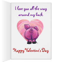 Romantic Pig Valentine's Day Card
