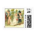 Romantic Pigs Postage Stamp