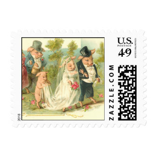 Romantic Pigs Stamps