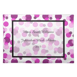 Romantic Pink and Purple Spotty Wedding Keepsake Placemat