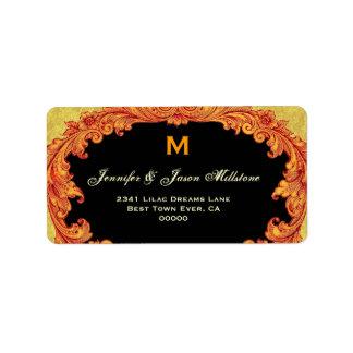 Romantic Pink and Wine Vintage Monogram Label
