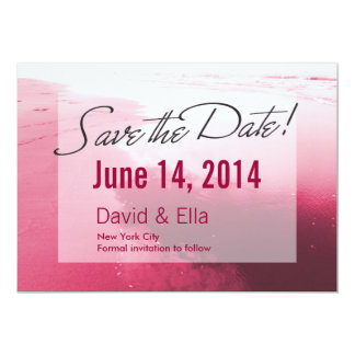 Romantic Pink Beach Save the Date Announcement
