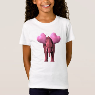 Romantic Pink Elephant T-Shirt