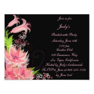 Romantic Pink Floral Bachelorette Party Invitation