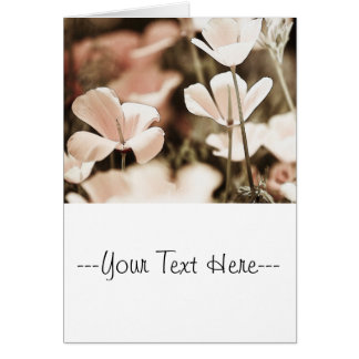 Romantic Pink Flowers Photograph, Nature Forals Card