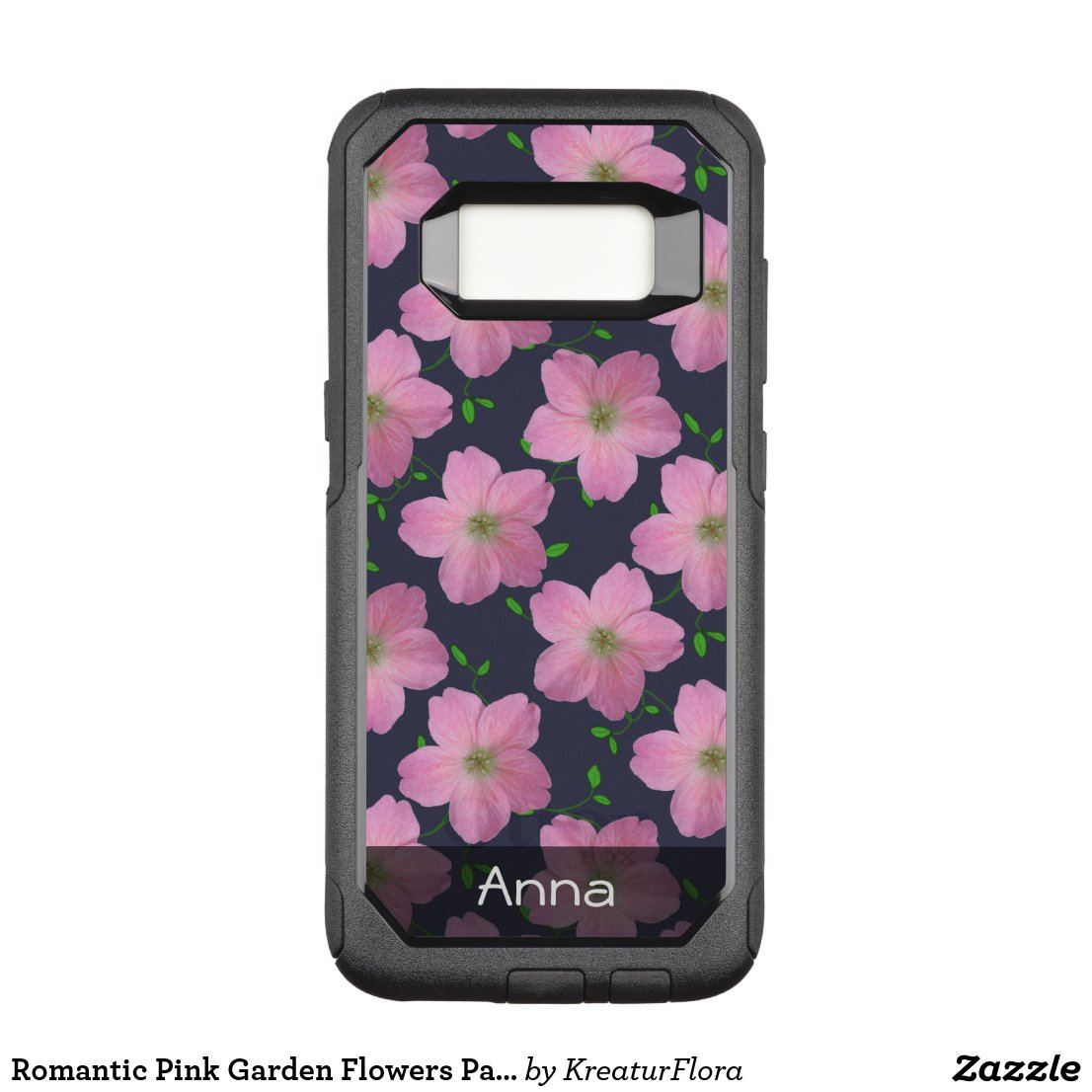 Romantic Pink Garden Flowers Pattern any Text