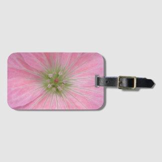 Romantic Pink Geranium Flower Detail Luggage Tag