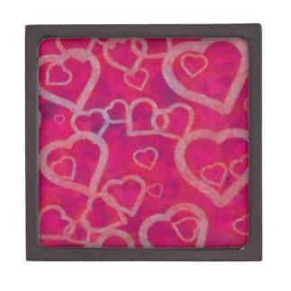 Romantic Pink Heart Design Gift Box
