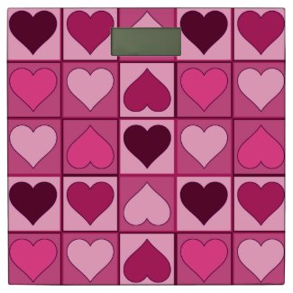 Romantic Pink Hearts Up and Down