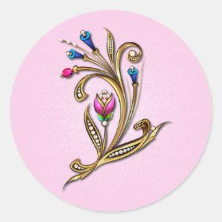 Romantic Pink Jewel Sticker