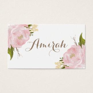 Romantic Pink Peonies Wreath DIY Place Cards