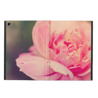 Romantic pink rose cover for iPad air