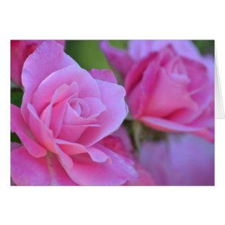 Romantic Pink Rose Floral Card