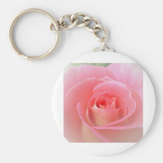 Romantic Pink Rose Keychain