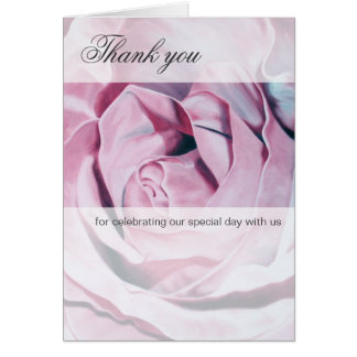 Romantic Pink Rose Thank You Cards
