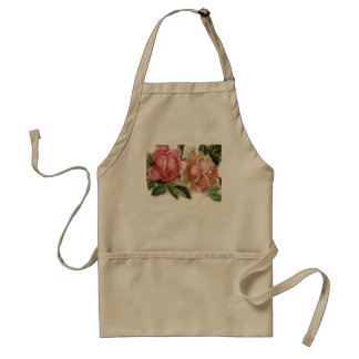 Romantic Pink Roses Adult Apron
