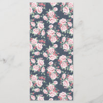 Romantic Pink Roses Floral Pattern