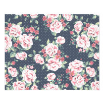 Romantic Pink Roses Floral Pattern Flyer