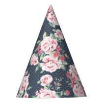 Romantic Pink Roses Floral Pattern Party Hat