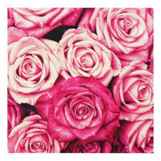Romantic Pink Roses Panel Wall Art