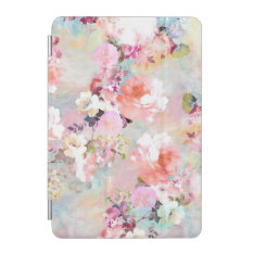 Romantic Pink Teal Watercolor Chic Floral Pattern Ipad Mini Cover at Zazzle