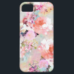 """Romantic Pink Teal Watercolor Chic Floral Pattern iPhone SE/5/5s Case<br><div class=""""desc"""">Romantic Pink Teal Watercolor Chic Floral Pattern . a girly, elegant and chic floral pattern featuring beautiful and preppy vintage victorian roses and peonies in light pink and orchid purple on a modern and abstract pink and teal pastel watercolor strokes pattern . perfect feminine gift for the flower and nature...</div>"""