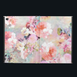"""Romantic Pink Teal Watercolor Chic Floral Pattern Powis iPad Air 2 Case<br><div class=""""desc"""">Romantic Pink Teal Watercolor Chic Floral Pattern . a girly, elegant and chic floral pattern featuring beautiful and preppy vintage victorian roses and peonies in light pink and orchid purple on a modern and abstract pink and teal pastel watercolor strokes pattern . perfect feminine gift for the flower and nature...</div>"""