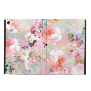 Romantic Pink Teal Watercolor Chic Floral Pattern Powis Ipad Air 2 Case at Zazzle
