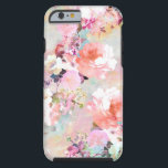 "Romantic Pink Teal Watercolor Chic Floral Pattern Tough iPhone 6 Case<br><div class=""desc"">Romantic Pink Teal Watercolor Chic Floral Pattern . a girly, elegant and chic floral pattern featuring beautiful and preppy vintage victorian roses and peonies in light pink and orchid purple on a modern and abstract pink and teal pastel watercolor strokes pattern . perfect feminine gift for the flower and nature...</div>"