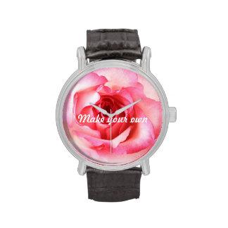 Romantic pink, vintage roses wristwatch
