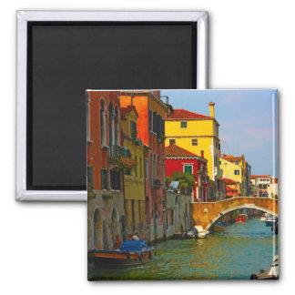Romantic places in Venice 2 Inch Square Magnet