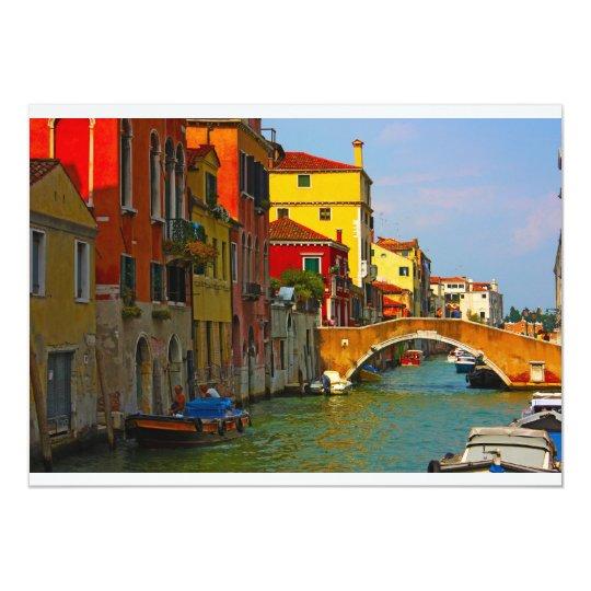 Romantic places in Venice Card