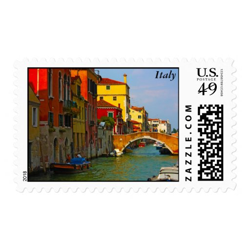 Romantic places in Venice, Italy Postage