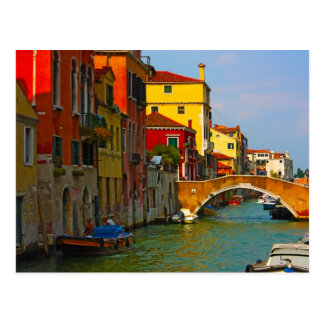 Romantic places in Venice Postcard