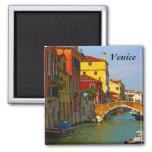 Romantic places in Venice, Venice 2 Inch Square Magnet