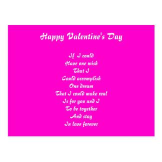romantic poem valentine's day postcards
