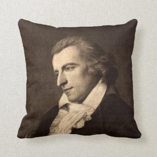 Romantic Poet Friedrich von Schiller Portrait Pillows