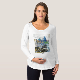 Romantic Prague in the Czech Republic Maternity T-Shirt
