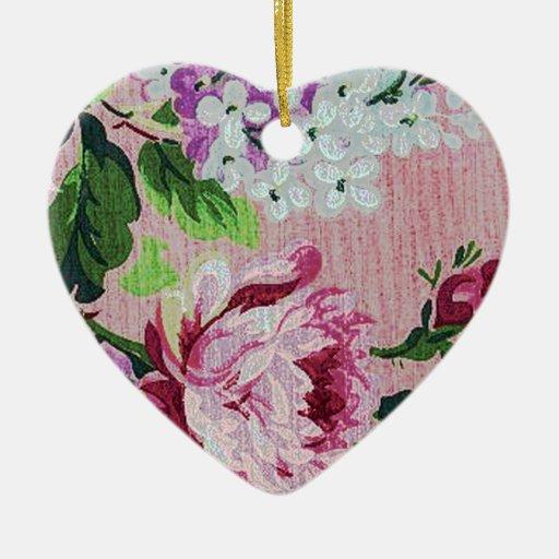 Romantic Pretty Vintage Rose Ornament