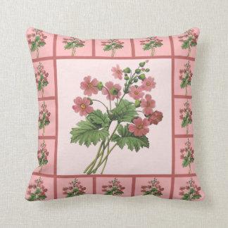 Romantic Primroses Throw Pillow