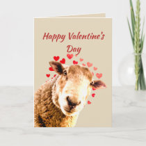 Romantic Pun Love Ewe  Funny Sheep Animal Humor Holiday Card